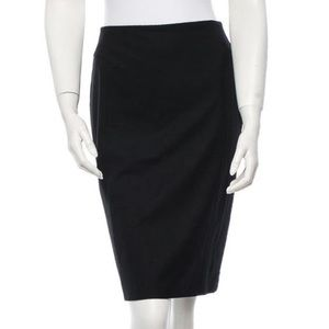 NWT Jil Sander Black Pencil Skirt Size 4